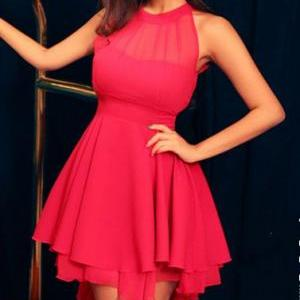 Sleeveless Bodycon Dress With Open ..