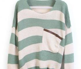 Loose Green Striped ..