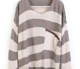 Loose Grey Striped S..