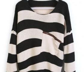 Loose Black Striped ..