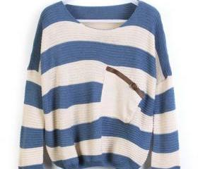 Loose Blue Striped S..