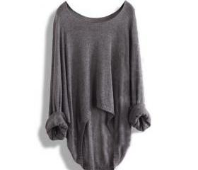 Gray Loose Batwing S..
