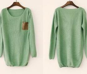 Mint Loose Sweater W..
