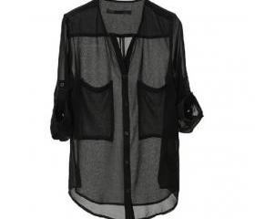 Black Loose Shirt Tw..