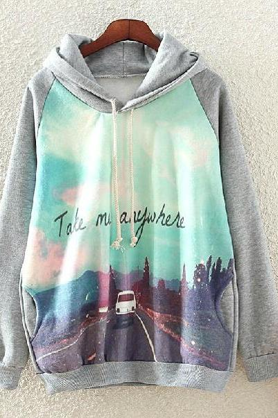 Take Me Anywhere Hoodie Sweatshirt