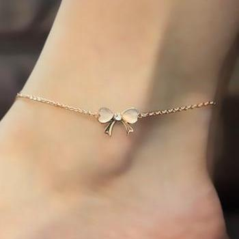 Studded Bow Anklet