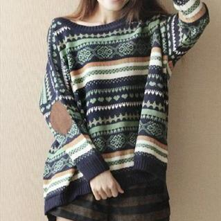 Loose Geometric Patterns Sweater