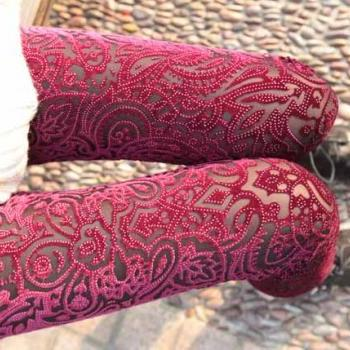 Stylish Floral Leggings In Red